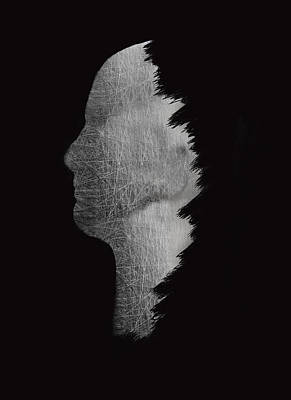 Digital Sculpture In Black Art Print