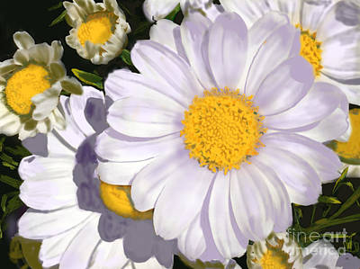 Art History Meets Fashion Rights Managed Images - Digital Spring Daisy Royalty-Free Image by H Barnett