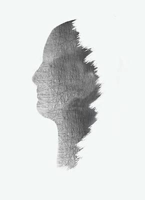 Digital Structure In White Art Print