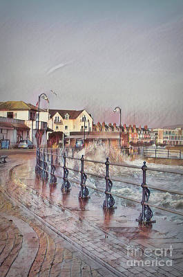 Mixed Media - Digital Swanage. by Linsey Williams