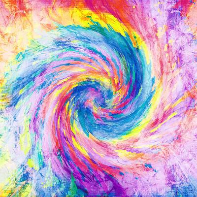 Mushroom Digital Art - Digital Tie Dyes by Filippo B