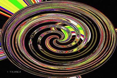 Digital Art - Digital Tire Abstract by Tom Janca