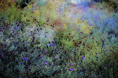 Digital Watercolor Field Of Wildflowers 4064 W_2 Art Print
