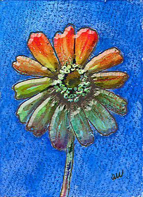 Floral Digital Art Digital Art Digital Art - Digital Zinnia by Arline Wagner