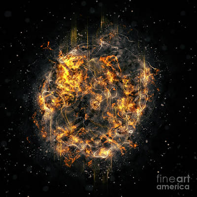 Digitally Created Photograph - Digitally Created Exploding Supernova Star  by Humorous Quotes
