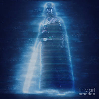 Digitally Created Photograph - Digitally Enhancement Darth Vader  by Ilan Rosen