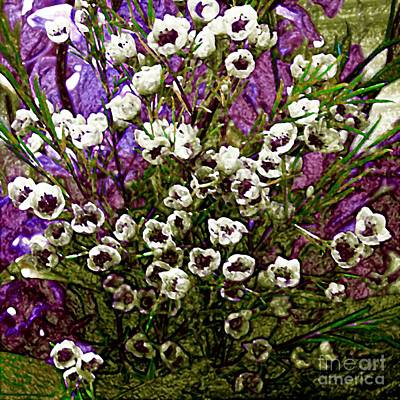 Photograph - Digitally Overpainted Floral Photograph by Merton Allen