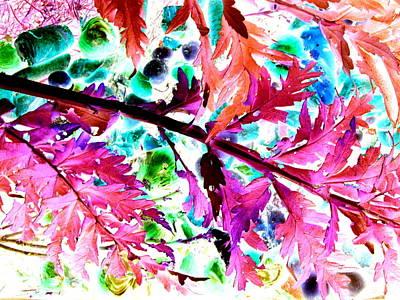 Artichoke Digital Art - Digitized Artichoke Leaves, Fruit And Vegetables  In Compost Bin by Rich Bertolina