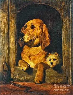 Landseer Painting - Dignity And Impudence by MotionAge Designs