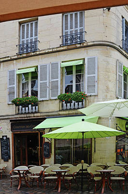 Photograph - Dijon Cafe On Rue Francois Rude by Carla Parris