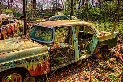 Photograph - Dilapidated Abandoned Vehicle by Douglas Barnett
