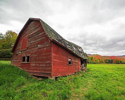 Dilapidated Barn Keene New York Ny Route 73 Art Print