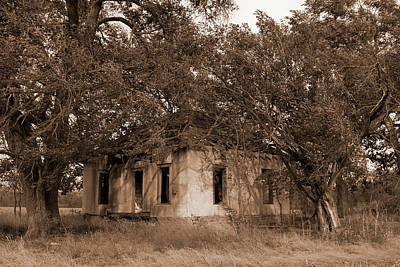 Stuco Photograph - Dilapidated House by Mark A Brown