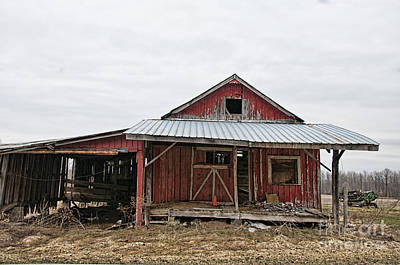 Photograph - Dilapidated Old Barn by David Arment