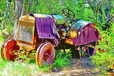 Digital Art - Dilapidated Tractor by Anthony Murphy
