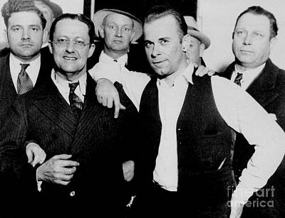 Celebrate Photograph - Dillinger And Law Enforcemment Friends by Jon Neidert