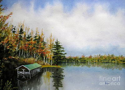 Painting - Dillman's Boathouse by Shirley Braithwaite Hunt
