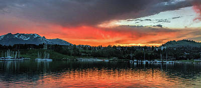 Photograph - Dillon Marina At Sunset by Stephen Johnson