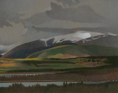Drawing - Dillon Reservoir by Dan Miller