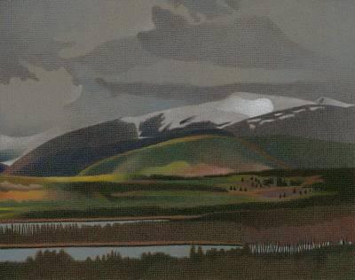 Drawing - Dillon Reservoir by Dan Miller