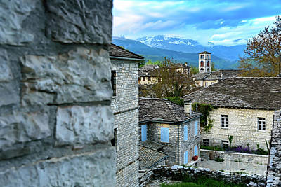 Photograph - Dilofo Village At Sunset, Zagori, Greece by Global Light Photography - Nicole Leffer