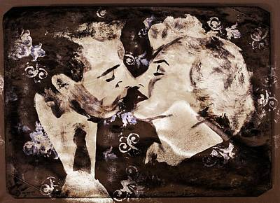 Joe Dimaggio Painting - Dimaggio And Monroe by Carly Jaye Smith