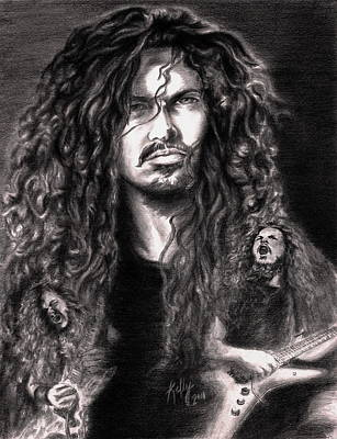 Heavy Metal Drawing - Dime by Kathleen Kelly Thompson