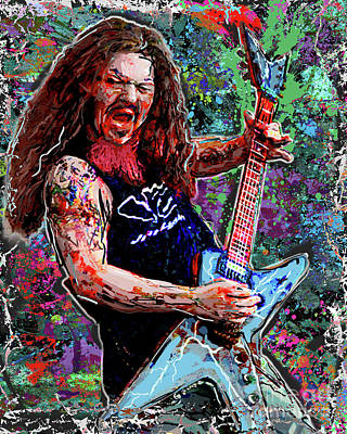 Gate Mixed Media - Dimebag Darrell Art, Pantera by Ryan Rock Artist