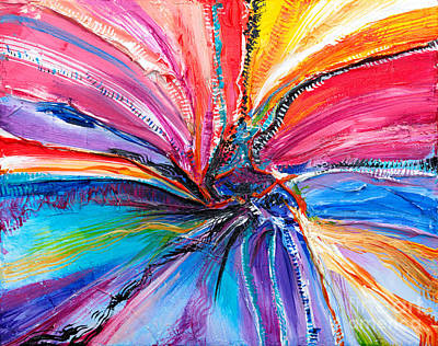 Painting - Dimensional Rainbow by Expressionistart studio Priscilla Batzell