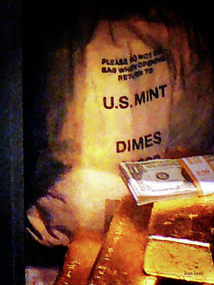 Dimes Dollars And Gold Art Print