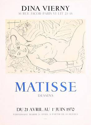 Mourlot Painting - Dina Vierny by Henri Matisse