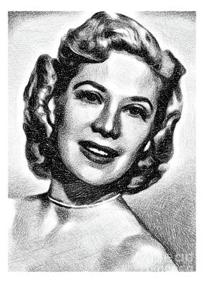 Musicians Drawings - Dinah Shore, Singer and Actress by JS by Esoterica Art Agency