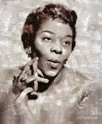Jazz Royalty-Free and Rights-Managed Images - Dinah Washington by Mary Bassett by Mary Bassett