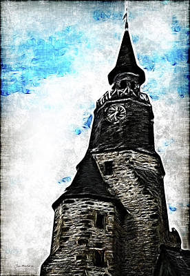 Photograph - Dinan Clock Tower by Joan  Minchak