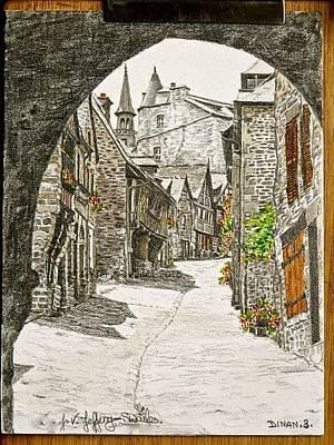 Painting - Dinan   France by SJV Jeffery-Swailes