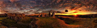Photograph - Dinas Bran by Andrew Munro