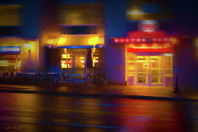 Photograph - Diner At Night by Glenn Gemmell
