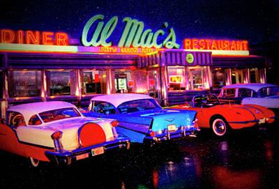 Mixed Media - Diner by David Millenheft