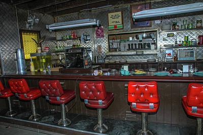 Photograph - Diner Interior by Robert Hebert