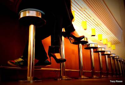 Foot Stool Photograph - Diner Love by Tracy Reese