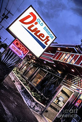 Photograph - Diner Open - New Jersey Diners by Colleen Kammerer