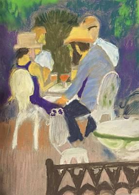 Diner's At Justine's Art Print