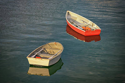 New England Village Photograph - Dinghies by Rick Berk