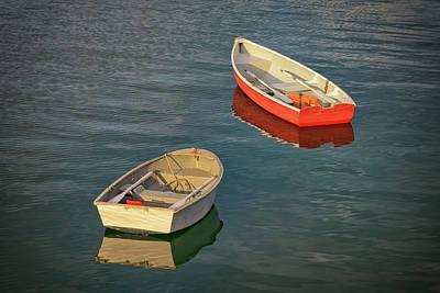 Penobscot Bay Photograph - Dinghies by Rick Berk