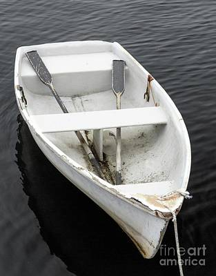 Photograph - Dinghy At The Docks by Karin Pinkham