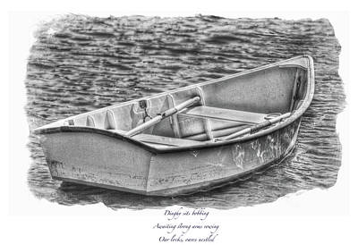 Photograph - Dinghy Haiku  Black And White  by Constantine Gregory