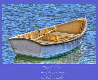Photograph - Dinghy Haiku by Constantine Gregory