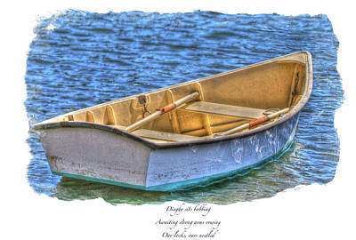 Photograph - Dinghy Haiku Framed by Constantine Gregory