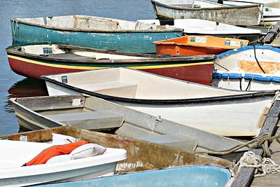 Dinghys At Bearskin Neck Art Print by Joe Faherty