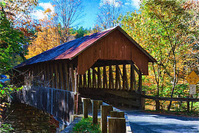 Photograph - Dingleton Hill Covered Bridge Digital Art by Jeff Folger